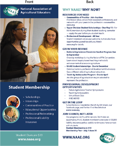 NAAE Student Membership Handout - click to view larger image