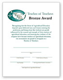 Teacher of Teachers Certificate - Bronze - click to view larger image