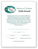 Teacher of Teachers Certificate - Gold - click to view larger image