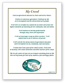 NAAE Agriculture Teacher's Creed - click to view larger image