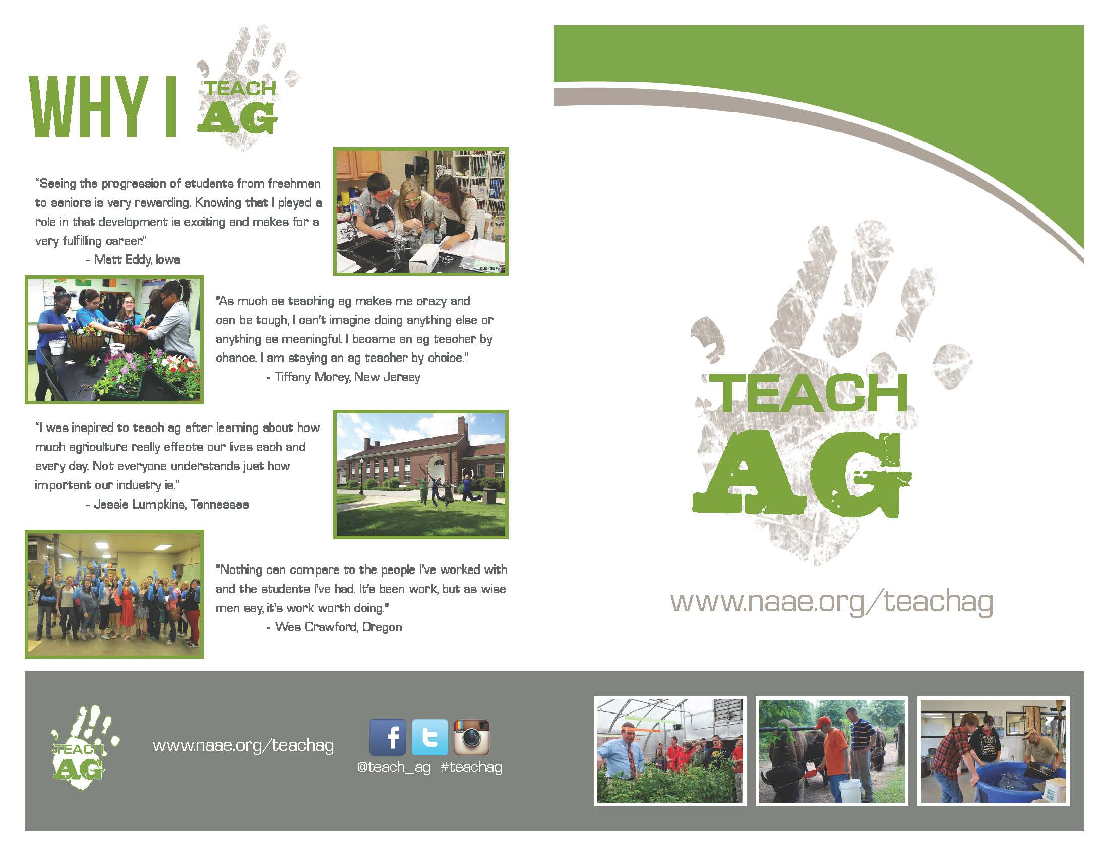 National Teach Ag Campaign Promotional Materials National - Teacher brochure template